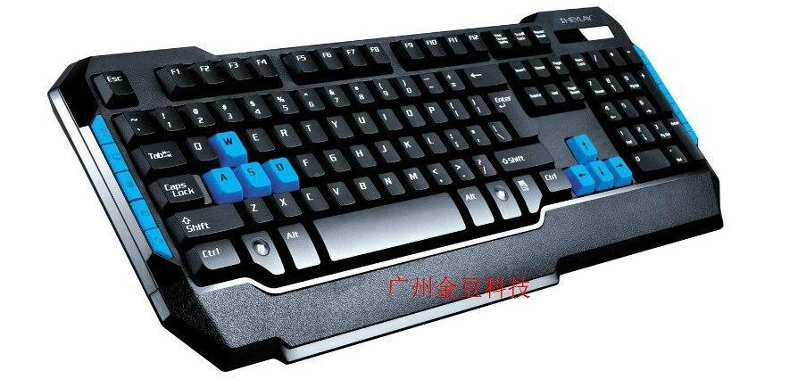 Genuine Product Heylay V129USB Multimedia Gaming Keyboard Dull Polish Edge Game Wired Keyboard Cross Border
