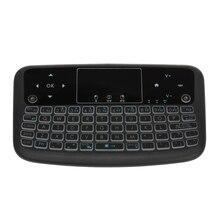 цены на A36 Mini Wireless Keyboard 2.4G Color Backlit Air Mouse Presspad Keyboard for Android Tv Box Smart Tv Pc Ps3  в интернет-магазинах