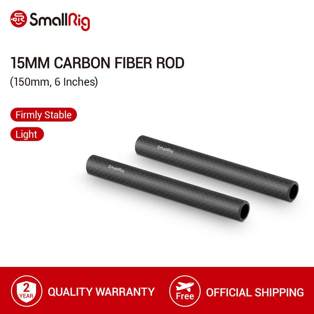 Smallrig 15 Mm Serat Karbon Batang-6 ''Panjang untuk 15 Mm Batang Dukungan Sistem (Non-Thread) paket Sepasang-1872