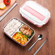 Zazayu Portable Lunch Box Stainless Steel 304 Japanese Bento box containers Compartments Leakproof  Tableware Food Container new japanese kids lunch box 304 stainless steel bento lunch box with compartment tableware microwave food container box 2020