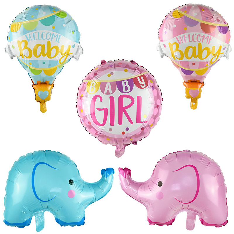 Cartoon Rainbow Elephant Horse Foil Balloon  Happy Birthday Party Decoration Kids Hat