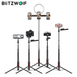 BlitzWolf BW BS11 Multifunctional Selfie Stick Tripod blutooth Remote Live Stream Balance Stabilizer for Phones Sport Camera