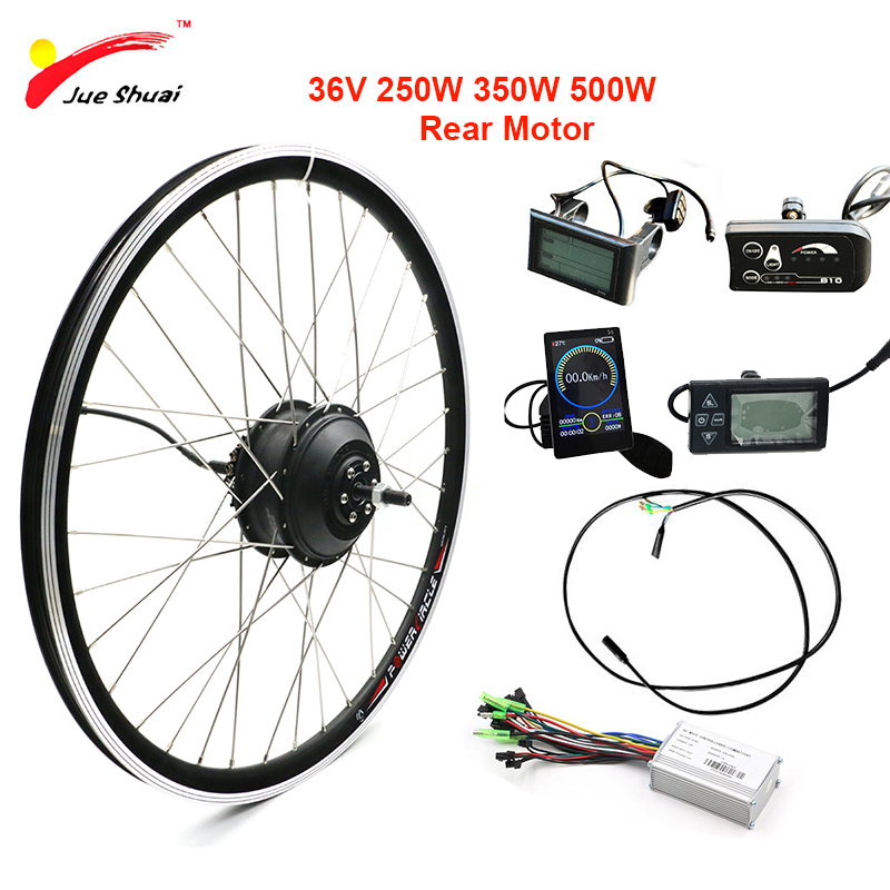 "36V 250W-500W Electric Motor Wheel e Bike Kit with DC Controller Rear Brushless Hub Motor 20'' 24"" 26'' 700C 28'' Free Shipping"