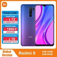 "Global Version Xiaomi Redmi 9 3GB 32GB / 4GB 64GB Smartphone Helio G80 Octa Core 13MP Quad Camera 6.53"" FHD+ Display 5020mAh 1"