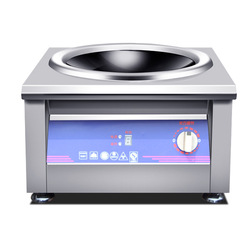 3500W/5000W Induction Cooker Commercial Concave Surface Electric Cooking Machine Cooktop Waterproof Stainless Steel Stoves