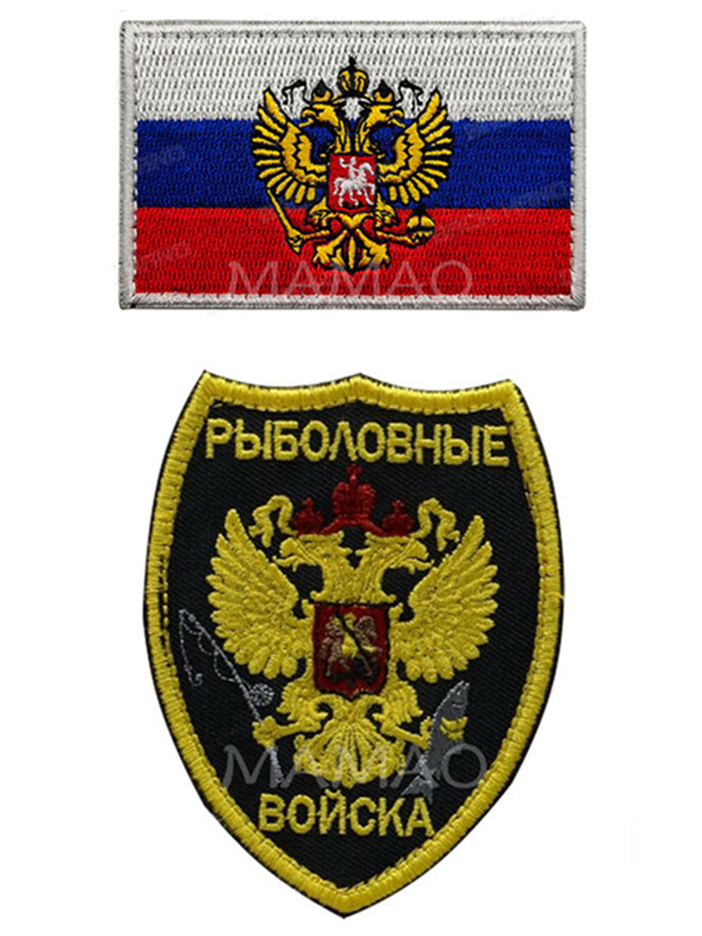 Bandeira russa da águia remendo bordado velcro remendo para roupas tático moral listras militar ao ar livre apliques parches crachá