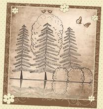 ZhuoAng Reflection Tree Clear Stamp for Scrapbooking Rubber Stamp Seal Paper Craft Clear Stamps Card Making zhuoang peony clear stamp for scrapbooking rubber stamp seal paper craft clear stamps card making