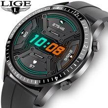 Lige 2020 novo relógio inteligente masculino tela de toque completa esporte fitness relógio ip68 à prova dip68 água bluetooth para android ios smartwatch masculino + caixa