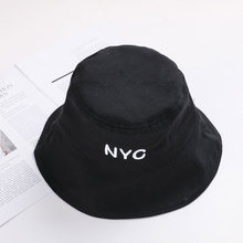 Men Women Summer cap Outdoor Beach sun hat fashion panama Bucket Flat top Fishing embroidery letter Harajuku Fisherman Hat