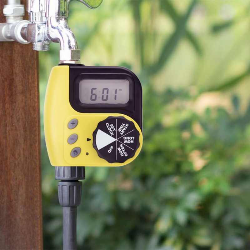 Irigasi Timer Baterai Outlet Tunggal Digital Programmable Hose Faucet Timer Elektronik Taman Otomatis Penyiraman Perangkat
