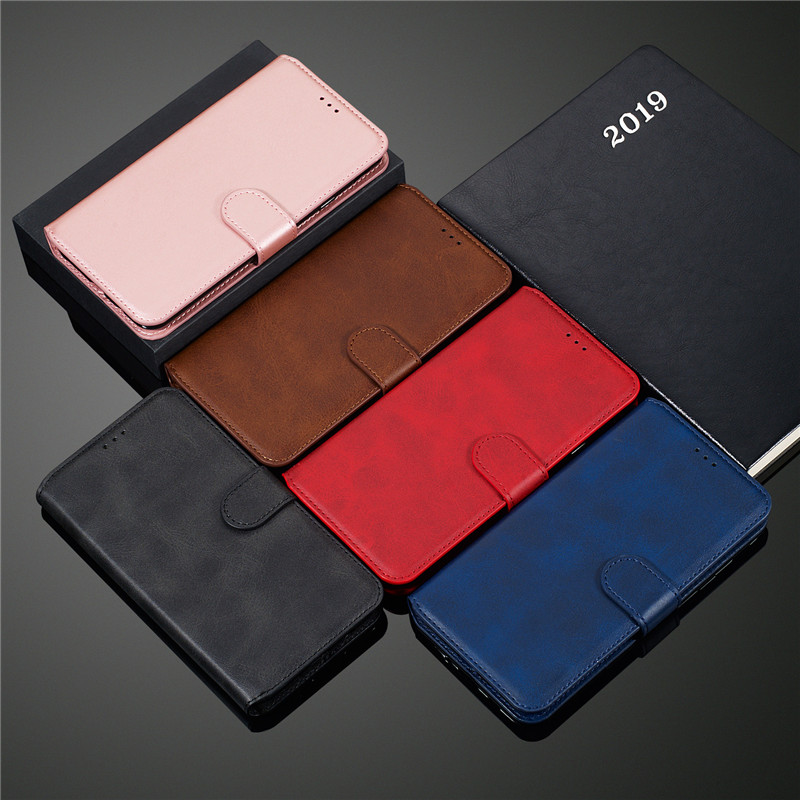 Wallet <font><b>Flip</b></font> <font><b>Case</b></font> for <font><b>Samsung</b></font> A10 A10S A20E <font><b>A30</b></font> A40 A50 S A60 A70 A80 A90 J4 J6 J7 2018 PU Cowhide Leather Cover M10 M20 M30 <font><b>Case</b></font> image