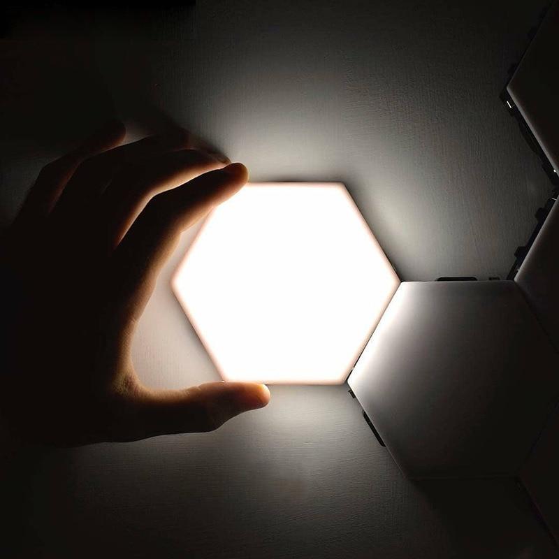 DIY Assembly Honeycomb Night Light Touch-Sensitive Geometric Hexagon Wall Light Quantum Light