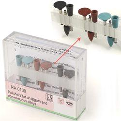 Dental Diamond Burs Polisher RA 0109 For Low Speed Handpiece 9 Amalgam Polishing Sizes
