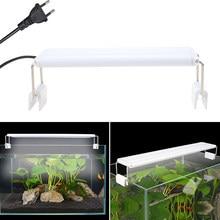 Acquario LED Light Super Slim Fish Tank pianta acquatica coltiva l'illuminazione lampada a Clip luminosa impermeabile piante blu LED 18-70cm