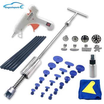 Do usuwania wgnieceń w karoserii auta do naprawy zestaw do ściągania wgnieceń narzędzia dla samochodów młotek ślizgowy kleje w sztyfcie 18 + AUTO naprawa wgnieceń narzedzia samochodowe tanie i dobre opinie CN (pochodzenie) WH-PDR-1491 Car dent repair tool Dent Puller Slide Hammer glue sticks Paintless dent repair tool Car Body Dent Repair Tool