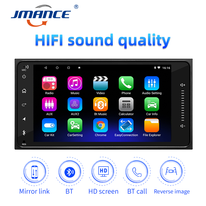 JMANCE 7 Inch 2 Din Car Radio Car DVD MP5 Android 9 1 Player Navigation Driving Recorder HD Player