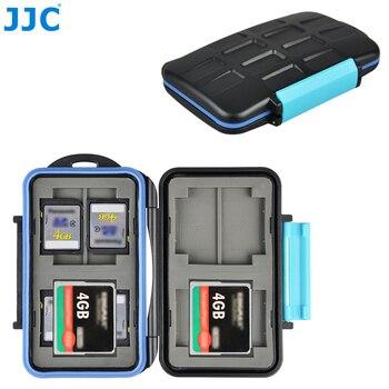 JJC Waterproof Memory Card Case Holder Storage Organizer for 4 CF 8 SD SDHC SDXC Cards Box for Canon Nikon Sony Fuji DSLR Camera