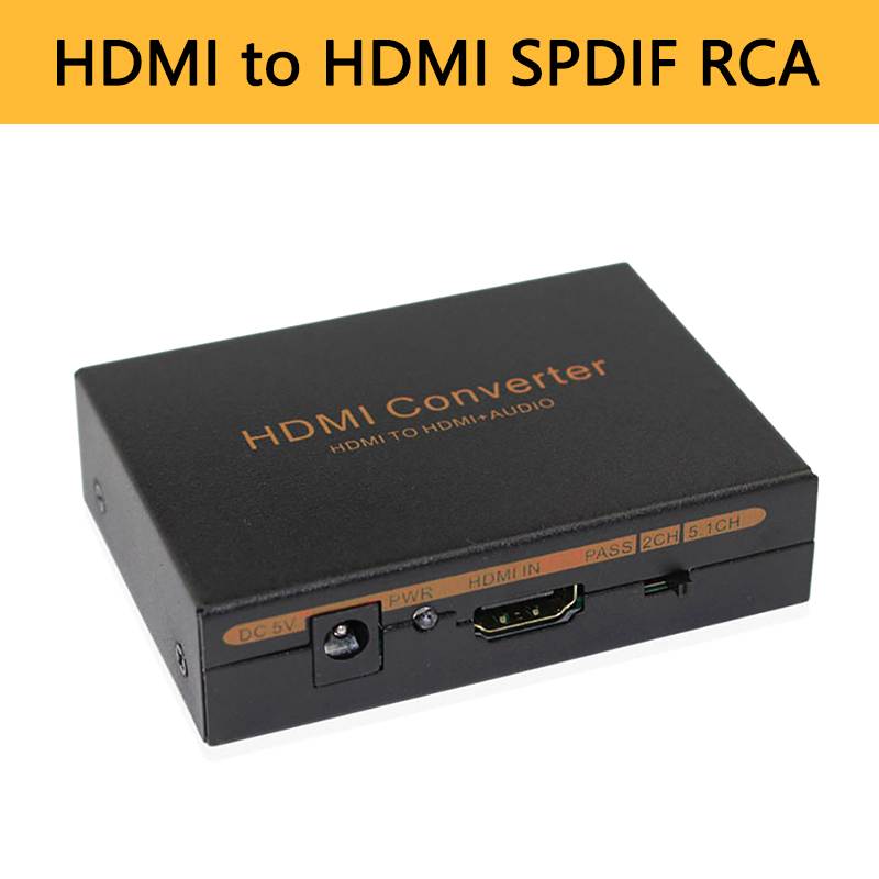 HDMI Audio Extractor Converter 5 1CH Audio Splitter 1080P Stereo Analog HDMI to HDMI Optical SPDIF