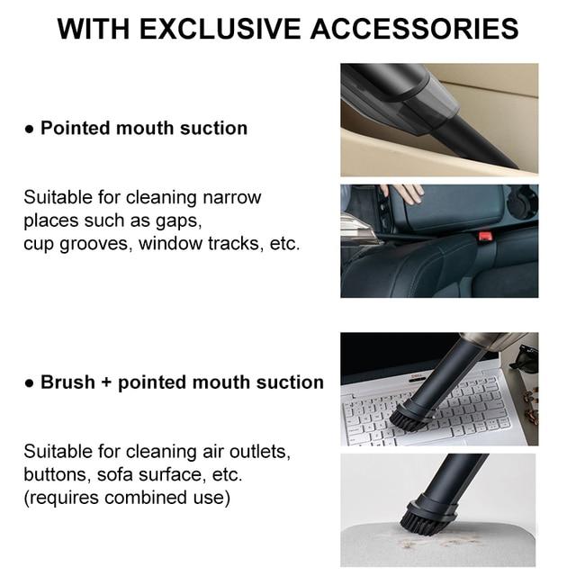 Aspirador de pó portátil sem fio, com sucção, recarregável, para carro, sem fio, molhado/seco, portátil, para casa 4