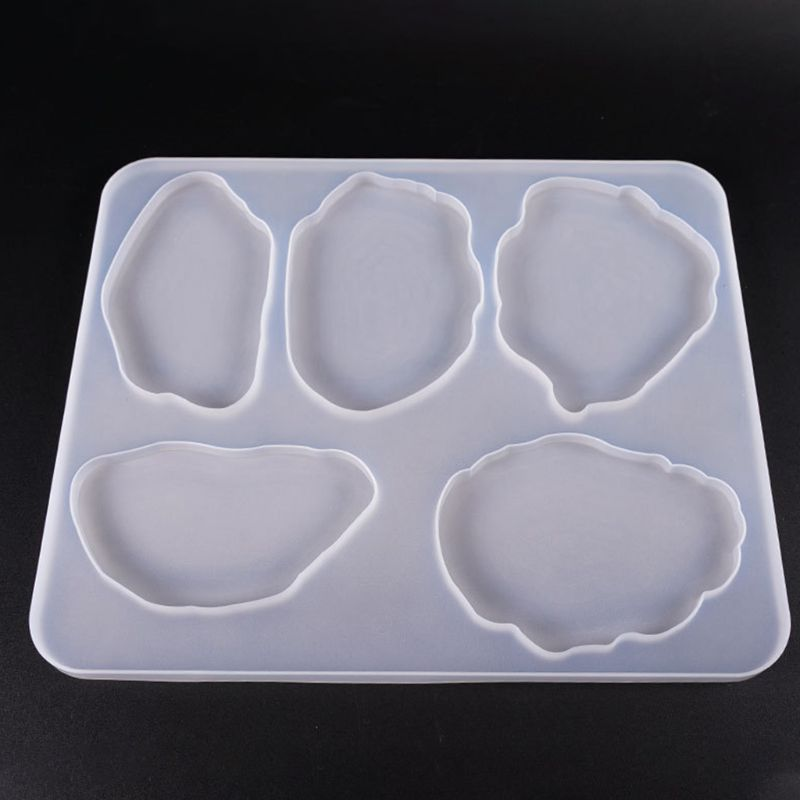 Large Table Decoration Mold Coaster Set Multi-standard Cup Mat Silicone Molds DIY Crystal Epoxy UV Glue Mold