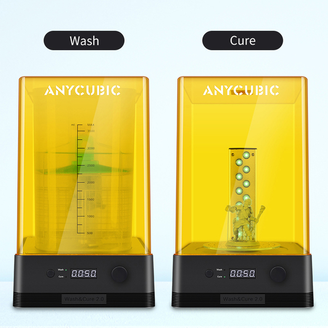 ANYCUBIC Wash & Cure 2.0 For Mars Photon Photons LCD SLA DLP 3D Printer Models UV Rotary Curing Resin Cleaning Machine 2 in 1 2