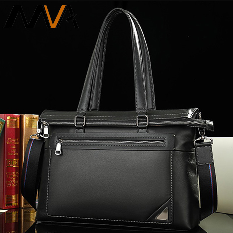 MVA Men's Briefcase Men's Bag Genuine Leather Office Bags For Men Leather Bag Messenger Bags Laptop Men Business Handbags Male