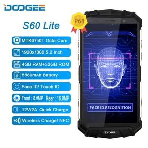 Image 1 - DOOGEE S60 Lite IP68 ทนทานไร้สายชาร์จ 4GB 32GB 5580MAh 12V2A Quick Charge Octa Core 5.2 FHD 16MPกล้องสมาร์ทโฟน