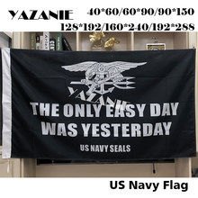 YAZANIE United States US Navy Seals Army Military Flags and Banners The Only Easy Day was Yesterday American Banner Flag