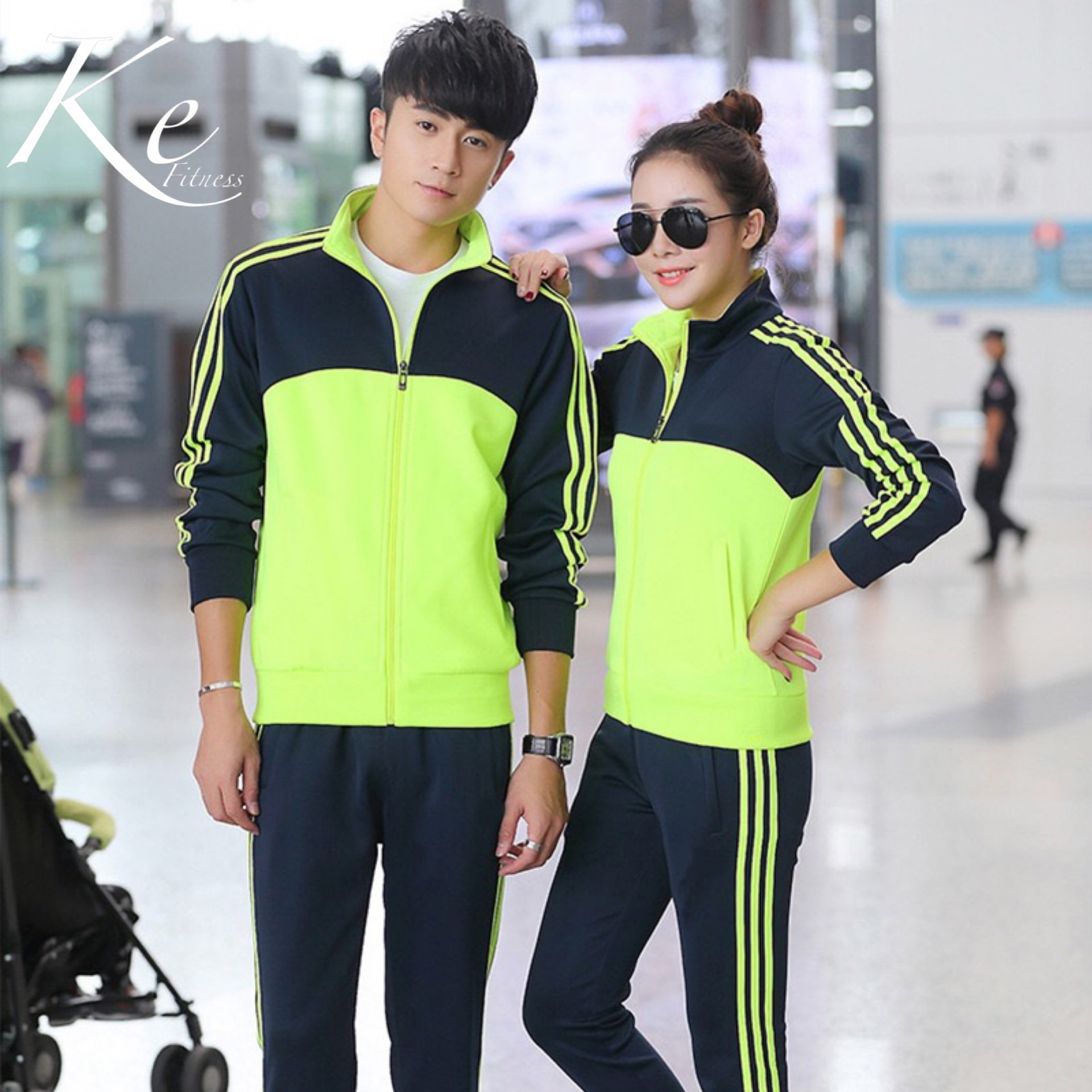 New Sports Suit 2020 Men Woman Spring And Autumn Slim Sweater Fitness Running Couple Suit Casual Long Sleeve Sportswear Women Tr
