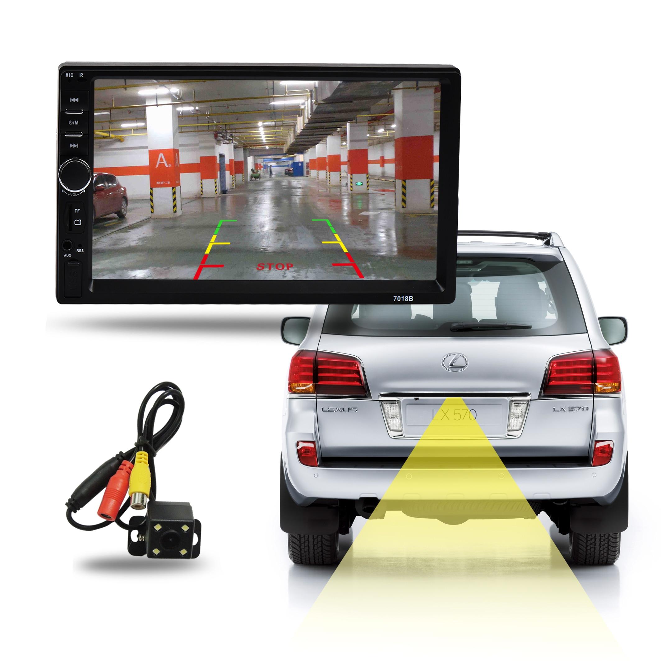 2Din سيارة MP5 لاعب 7018b راديو تلقائي 7 ''HD شاشة تعمل باللمس 1080P FM AM TF USB جفل Sys ستيريو رقمي 2 الدين MP5 Aotomotivo فيديو