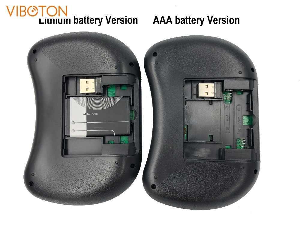 I8 di Aria del Mouse Touchpad Tv-Box Remote-Control Russo spagnolo inglese Retroilluminato Mini 2.4Ghz Tastiera Senza Fili tastiera gaming