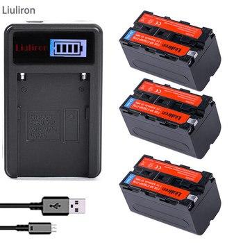 3x NP F770 F750 NP-F750 Li-ion batterie de remplacement + LCD USB chargeur pour Sony NP-F750 NP-F770 caméscope LED lumière vidéo D & F