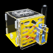 DIY Acryl Ant Farm Pet Anthill Nest Workshop House with Moisturizing Water Tower Villa Castle for 5 Layers 8*8*10cm