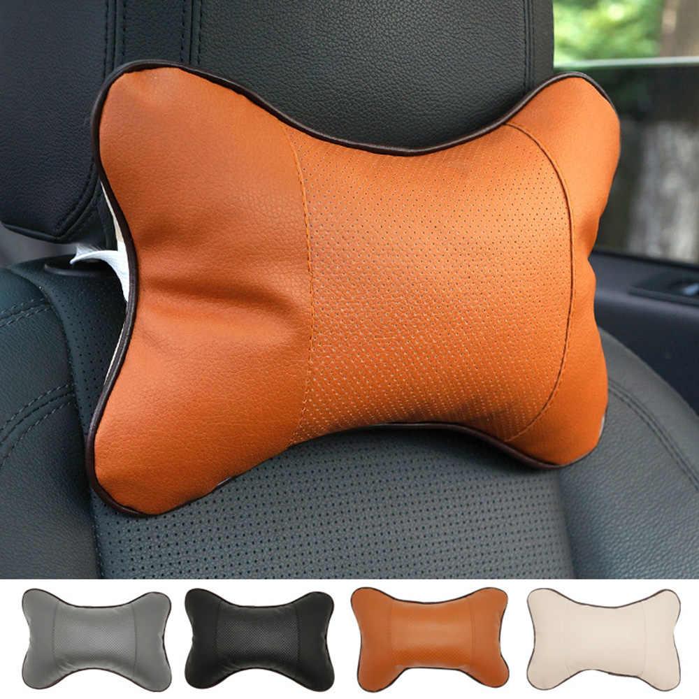 Universel voiture voyage oreiller appui-tête Protection en cuir voiture appui-tête oreiller Auto fournitures cou reste sécurité cou oreiller