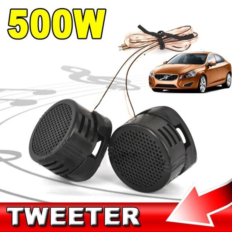 Promotion !! 1 Pair 500W Car Tweeter Speaker Dome Loudspeaker Built-in Crossover Speaker For Motocycle Car High Efficiency