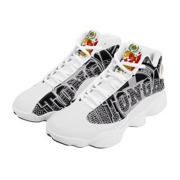 Venta caliente Tonga Polinesia Samoa Tribal estilo zapatillas de correr para niño personalizado bola Logo de equipo deportivo de Baloncesto de los hombres zapatos deportivos 1