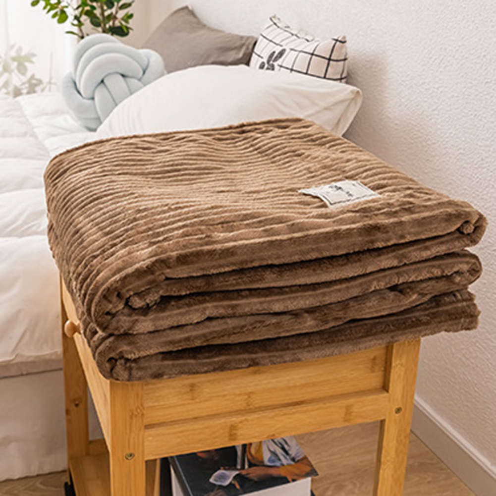 Winter Solid Color Thick Velvet Warm Blanket Sofa Couch Bed Soft Throw Blanket Mechanical Wash Flannel Blankets Bedroom Bedding-5