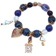 CHENFAN simple temperament beaded bracelet Swan heart pendant Jewelry bracelets for women 2019 natural stone