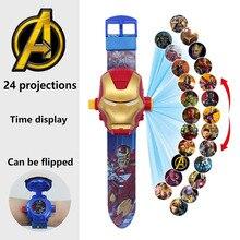 Anime Figure Watch-Toy Spiderman-Ironman Kids Frozen Disney Marvel Children's Princess