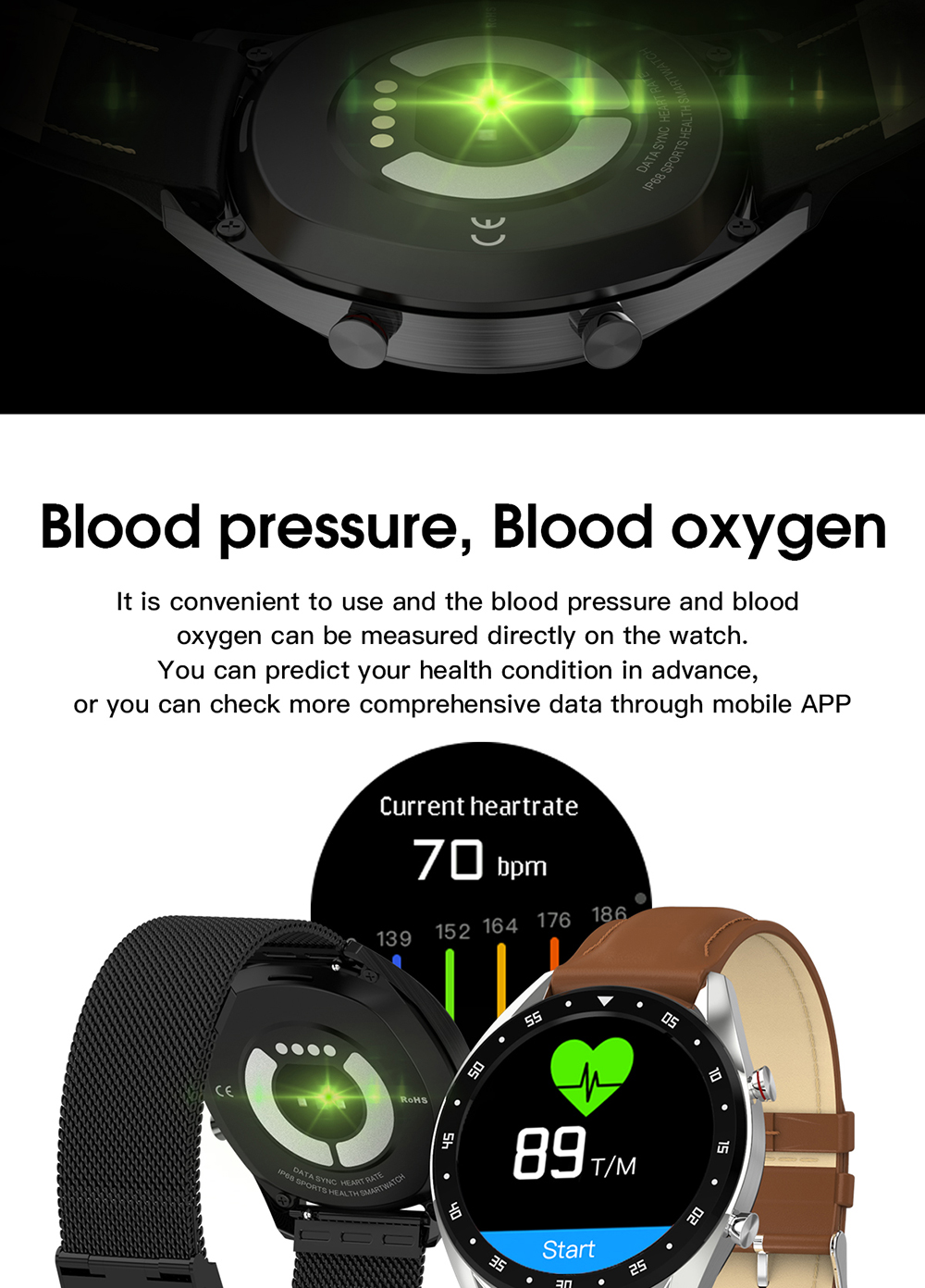 freqüência cardíaca rastreador monitor pressão arterial chamada lembrete