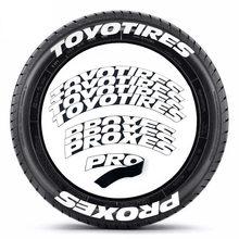 8 Teile/los Auto Reifen Schriftzug Aufkleber Auto Tuning Universal 3D Permanent PVC Verbunden Reifen Auto Aufkleber Reifen Dekoration Aufkleber
