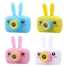 Игрушечные электронные цифровые камеры с заячьими ушками для детей, подарки на день рождения, мини-проектор 1080 P, видеокамера s, обучающие игрушки для мальчиков и девочек