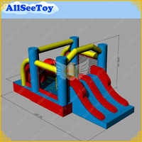 Commercial Quality  Inflatable Bouncy Castle Obstacle Course