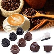 Filtre à café avec cuillère et brosse ajustable, réutilisables, dosettes c, 6 pièces