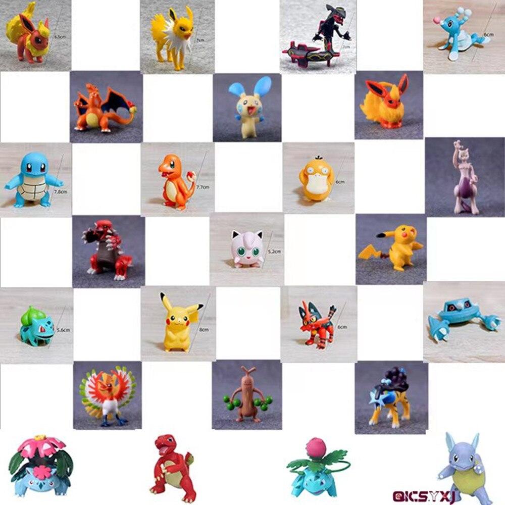 Pokemon Figure Reshiram Zekrom Model Mewtwo Dragonite Ho-Oh Dialga Absol Aggron Pvc Figure Toys for Children Pikachu Necrozma