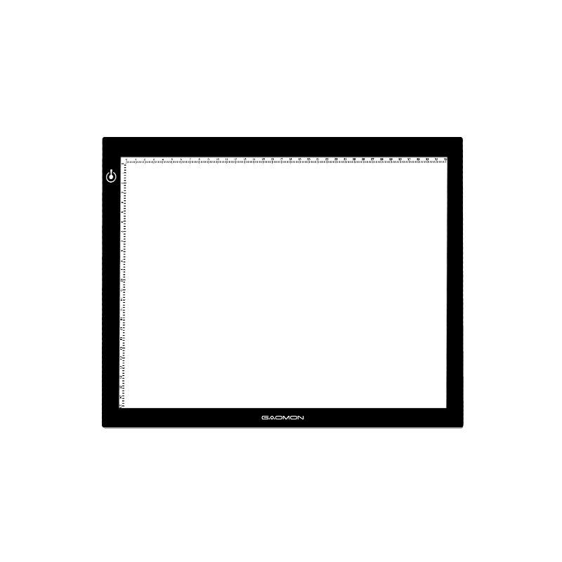 Gaomon gb4 5mm ultra-fino led luz almofada caixa de luz placa tatuagem tracing board para esboçar e copiar com tamanho b4