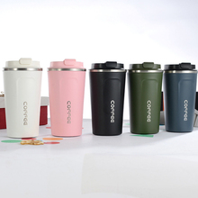 цена на 380/510ML 304 Stainless Steel Coffee Cup with Lid Vacuum Insulation Coffee Mugs Car Thermos Cup Outdoor Travel Drinking For Gift