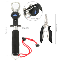 24cm 33lb Stainless Steel Fish Grip Lure Clamp Hand Controller Holder Fishing Lip Suits Gripper Pliers Fishing Tackle