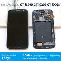 Teléfono Móvil pantalla mega 6,3 pantalla para SAMSUNG i9200 i9205 i9208 LCD pantalla digitalizador para SAMSUNG GALAXY Mega 6,3 pantalla lcd