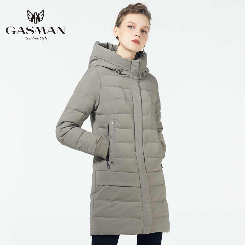 GASMAN 2019 ceket aşağı ceket kış kadın kapşonlu sıcak Parkas ceket yüksek kaliteli kadın yeni kış koleksiyonu rüzgar geçirmez ceket